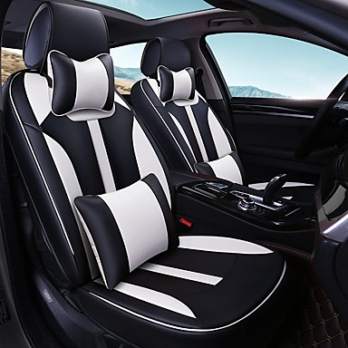 Car Seat Cushion Cover Family Leather Four General Black And White 5997707 2018 10699
