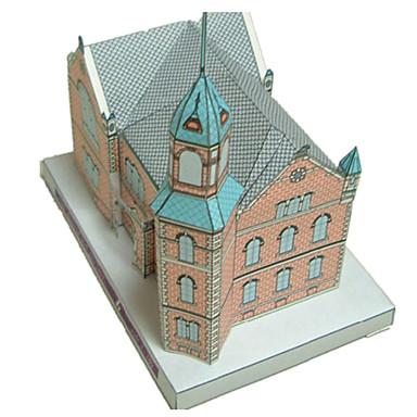 levne 3D puzzle-3D puzzle Papírové modely Modele Hrad Slavné stavby Kostel Udělej si sám Klasické Animák Dětské Unisex Chlapecké Hračky Dárek