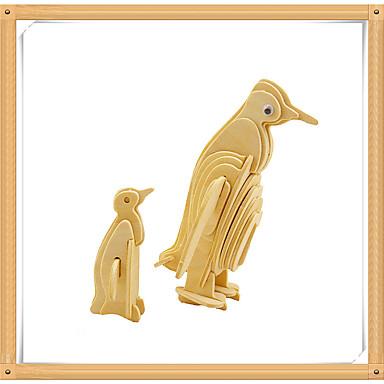levne 3D puzzle-3D puzzle Puzzle Modele Tučňák Zvířata Udělej si sám Dřevěný Dětské Hračky Dárek
