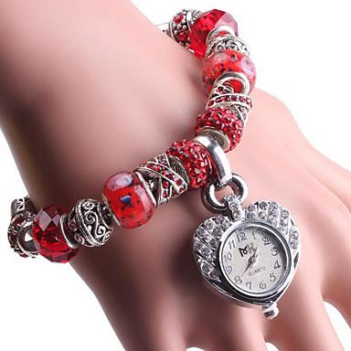 levne Dámské-Dámské Náramkové hodinky Digitální Kov Červená / Zelená Analogové Červená Zelená