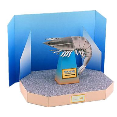 levne 3D puzzle-3D puzzle Papírové modely Modele Krevety Udělej si sám Simulace lepenkový papír Klasické Dětské Unisex Hračky Dárek
