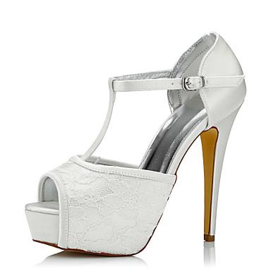 mujer zapatos seda / tul primavera / otoño confort tacones tacón