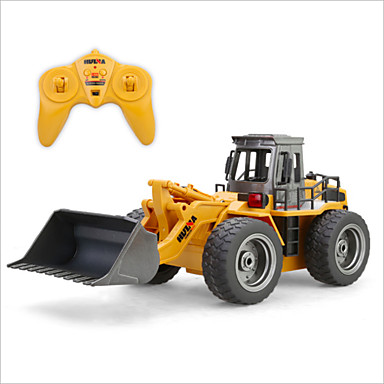 RC Car HUINA 1520 6 Channel 2.4G Bulldozer 1:18 Brush Electric Remote Control / RC / Rechargeable / Electric