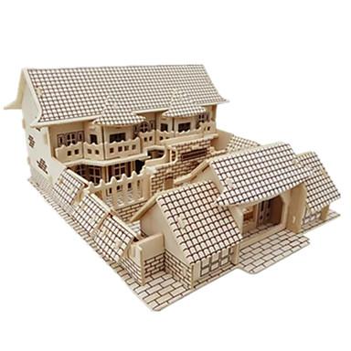 voordelige 3D-puzzels-3D-puzzels Legpuzzel Modelbouwsets Beroemd gebouw Chinese architectuur DHZ Simulatie Puinen Klassiek Chinese stijl Kinderen Volwassenen Unisex Jongens Meisjes Speeltjes Geschenk / Houten modellen