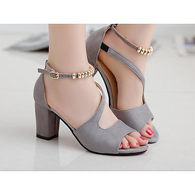 cheap Women's Heels-Women's Heels Open Toe Beading Leatherette Basic Pump Summer Green / Black / Beige / EU39
