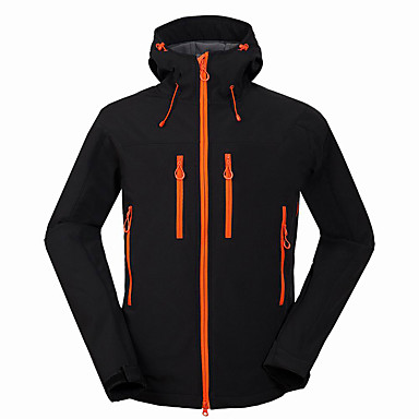 Men's Hiking Softshell Jacket Outdoor Winter Waterproof Thermal / Warm Windproof Breathable Jacket Windbreaker Top Softshell Camping / Hiking Hunting Fishing Black / Gray / Blue Camping & Hiking