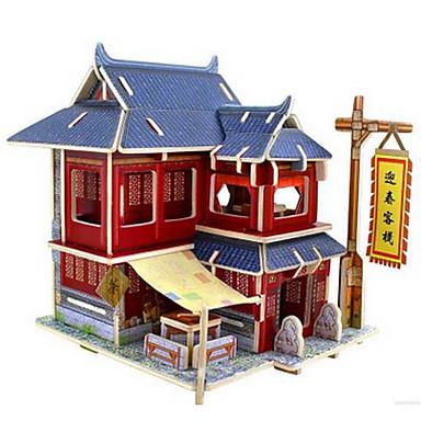 voordelige 3D-puzzels-3D-puzzels Chinese architectuur Plezier Klassiek Kinderen Speeltjes Geschenk