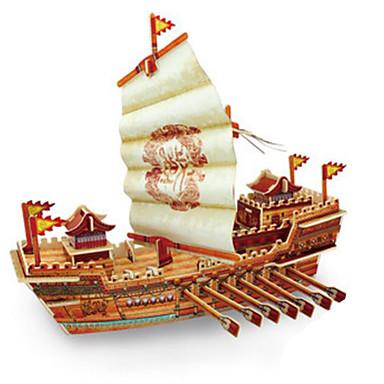 levne 3D puzzle-Robotime 3D puzzle Puzzle Modele Válečná loď Loď Udělej si sám Dřevěný Klasické Unisex Hračky Dárek