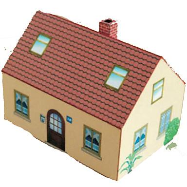 Puzzles 3d Artesania En Papel Casa Manualidades Papel Duro Ninos - Casa-de-manualidades