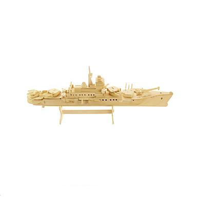 levne 3D puzzle-3D puzzle Puzzle Modele Válečná loď Letadlo Dřevěný Dřevo Letadlo Dětské Unisex Chlapecké Hračky Dárek