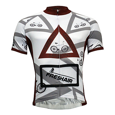 ILPALADINO Men s Short Sleeve Cycling Jersey Solid Color Bike Jersey Top  Quick Dry Sports Polyester Coolmax® Eco-friendly Polyester Mountain Bike  MTB Road ... 7f1b4a585