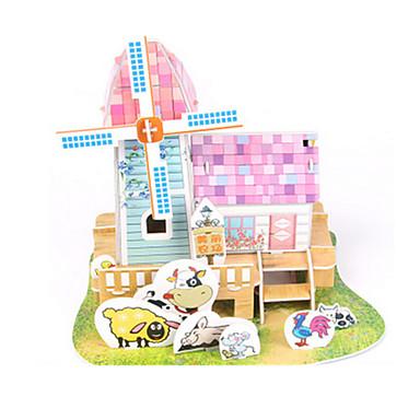 levne 3D puzzle-3D puzzle Puzzle Papírové modely Dům Udělej si sám Papír vysoké kvality Klasické Dětské Unisex Chlapecké Dívčí Hračky Dárek