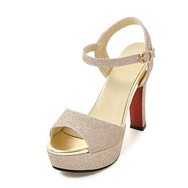 Mujer Zapatos Cuero de Napa / PU Verano Confort Sandalias Tacón Plano Negro / Plata / Fiesta y Noche nx4iYM