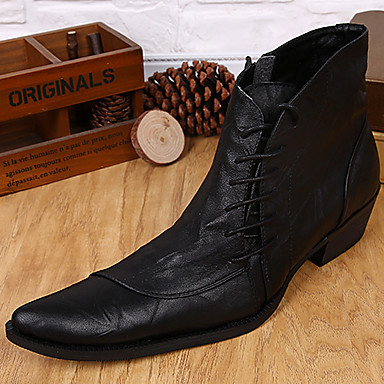 Unisex Shoes Nappa Leather Winter Fall Bootie Combat Boots Formal Shoes Cowboy / Western Boots Riding Boots Fashion Boots Motorcycle Boots