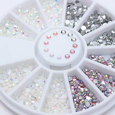 cheap Nails New Arrivals-1 pcs Nail Jewelry Rhinestones For Finger Nail nail art Manicure Pedicure Sparkle & Shine / Mixed Color / Jelly