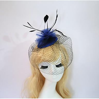 povoljno Party pokrivala za glavu-Smola Pamuk Fascinators Cvijeće kape 1 Vjenčanje Special Occasion Rođendan Zabava / večer Glava
