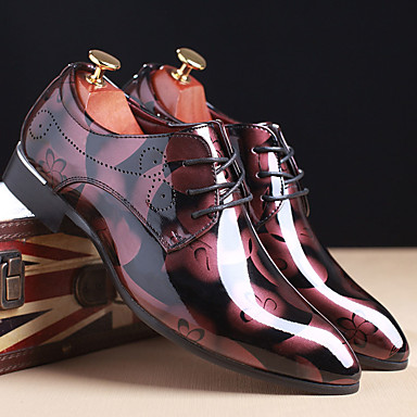 cheap Printed Shoes-Men's Formal Shoes TPU Spring / Fall Oxfords Red / Blue / Brown / Wedding / Printed Oxfords / EU40