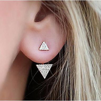 povoljno Modne naušnice-Žene Sitne naušnice Naušnice sprijeda i straga Magic Back Earring dame Moda Naušnice Jewelry Zlato / Pink Za Dnevno