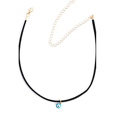 preiswerte Halsbänder-Damen Halsketten Böses Auge Personalisiert Modisch Aleación Schwarz Modische Halsketten Schmuck Für Alltag Normal Strasse