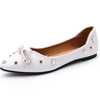 Mujer Zapatos PU microfibra sintético Primavera / Otoño Confort Bailarinas Tacón Plano Dedo redondo Verde / Rosa / Almendra iijmiTu