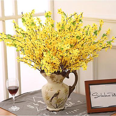 5 Branche Longue Branche Petite Fleur Jaune Hiver Jasmin Decoration