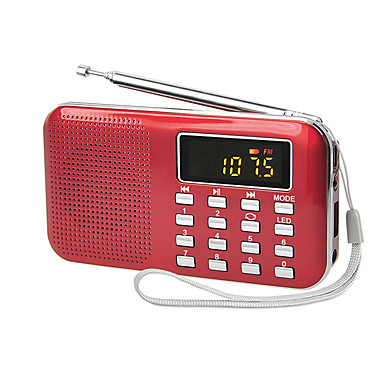 cheap Radio-Y-896 FM / AM Portable Radio MP3 Player TF Card World Receiver White / Black / Red