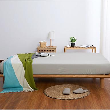 preiswerte Bettbezüge Sets & Kissenbezüge-Betttuch - Polyester / Baumwolle Bedruckt Solide 1 Stk. Betttuch / 2 Stk. Kissenbezüge