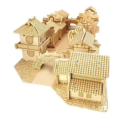 levne 3D puzzle-Stavební bloky 3D puzzle Puzzle Slavné stavby Dům Udělej si sám Dřevo Přírodní dřevo Unisex Chlapecké Hračky Dárek