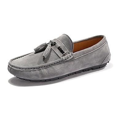 Mujer Zapatos Cuero de Napa Verano Confort Zapatos de taco bajo y Slip-On Plataforma Dedo redondo Blanco / Negro / Rojo VFQ9O83