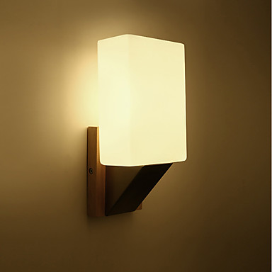 57 74 Northern Europe Modern Gl Wall Lights Wood Art Deco Living Room Dining Hallway Sconce