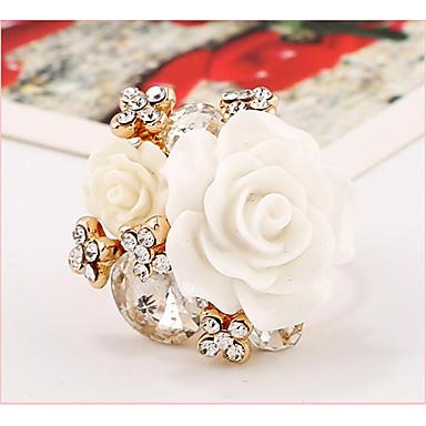 billige Motering-Dame Håndledd Ring Grønn Blå Marineblå Harpiks Rosa perle Geometrisk Form damer Bryllup Fest Smykker Blomst