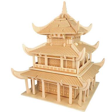 levne 3D puzzle-3D puzzle Puzzle Modele Slavné stavby Udělej si sám Dřevěný Přírodní dřevo Klasické Čínský styl Dětské Unisex Hračky Dárek