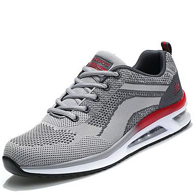 Hombre Zapatos Punto / Tela Primavera / Otoño Confort Zapatillas de Atletismo Running Gris / Rojo / Negro / Rojo acTwyE8V2z