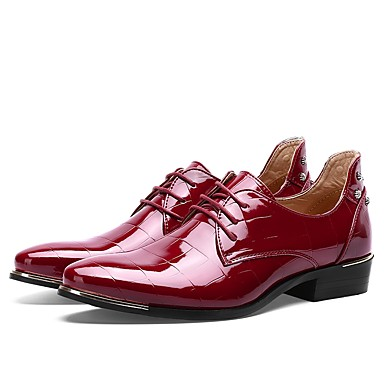 Men's Shoes Patent Leather Spring Fall Driving Shoes Formal Shoes Oxfords Lace-up Wedding Casual Office & Career Party & Evening