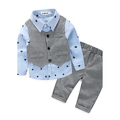 povoljno Odjeća za dječake-Beba Dječaci Galaksija Pamuk Komplet odjeće Plava