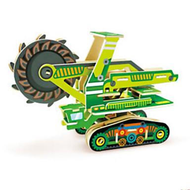 levne 3D puzzle-Autíčka 3D puzzle Puzzle Bagr Dřevěný Přírodní dřevo Stavební stroj Dětské Unisex Hračky Dárek