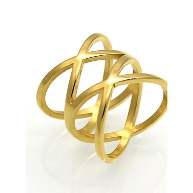 billige Motering-Herre Dame Band Ring Gull Sølv Titan Rund Geometrisk Form Spiss Form Personalisert dusk Vintage Fest Graduation Smykker Hjerte