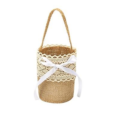 """povoljno Vjenčanje-Flower Basket Posteljina 9 7/8 """"(25 cm) Čipka / Cvijet 1 pcs"""