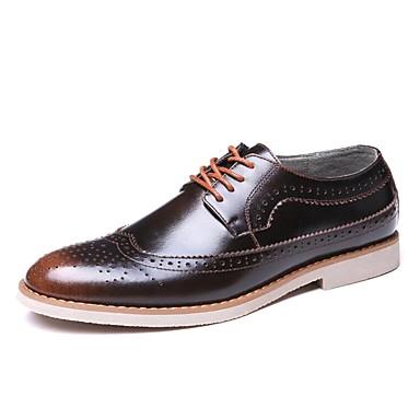 Hombre Zapatos Cuero Primavera / Verano Confort Oxfords Morado / Café / Marrón Jw7DjQ1C6