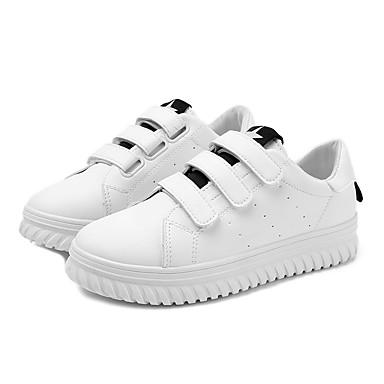 Mujer Zapatos Cuero Otoño Confort Zapatillas de deporte Media plataforma Dedo redondo Negro / Verde yvz6c0B