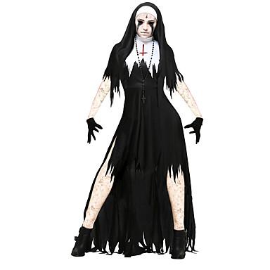 Bloody Mary Robes Costume de Cosplay Homme Femme Halloween Carnaval Le jour  des morts Fête / Célébration Déguisement d\u0027Halloween Tenue Noir avec Blanc  Rétro