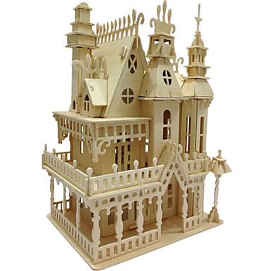 levne 3D puzzle-3D puzzle / Puzzle / Dřevěný model Slavné stavby / Dům Dřevěný / Přírodní dřevo Unisex / Chlapecké Dárek