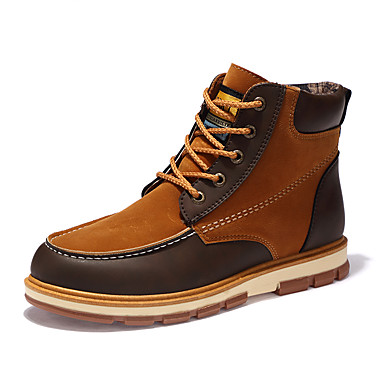 billige Utvalgte tilbud-Herre Komfort Sko Nubuck Skinn / Fleece Høst / Vinter Støvler Støvletter Svart / Gul / Blå / Kombinasjon / utendørs / Fashion Boots / EU40