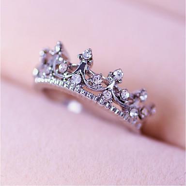 billige Motering-Dame Ring Princess Crown Ring Rose Gull Sølv Legering damer Personalisert Bryllup Fest Smykker Krone