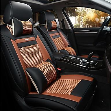 billige Interiørtilbehør til bilen-klaring bil sete dekker sete dekker oransje silke virksomhet for universell