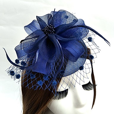 voordelige Hoeden-Net Kentucky Derby Hat / fascinators / hatut met 1 Bruiloft / Speciale gelegenheden  Helm
