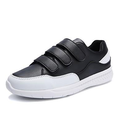 Hombre Zapatos PU Otoño Confort Zapatillas de deporte Blanco / Gris / Azul KhUnJ