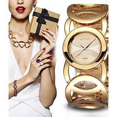 levne Dámské-Dámské Luxusní hodinky Sportovní hodinky Náramkové hodinky Křemenný Kov Vícebarevný 30 m Chronograf kreativita Odolný vůči nárazu Analogové dámy Přívěšky Luxus Třpyt Vintage - Černá Růžové zlato Gold