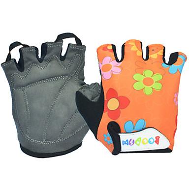 BOODUN ฤดูหนาว ถุงมือขี่จักรยาน ขี่จักรยานปีนเขา ระบายอากาศ ป้องกันการลื่นล้ม Sweat-wicking Protective เด็กผู้ชาย เด็กผู้หญิง ถุงมือแบบครึ่งมือ กิจกรรมและถุงมือสำหรับกีฬา Lycra ส้ม สีน้ำเงิน สำหรับ