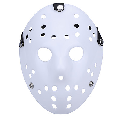 Halloween Hockey Masker.9 59 Halloween New Porous Jason Killer Mask White Thick 13th Horror Hockey Cosplay Mask Carnaval Masquerade Party Costume Prop